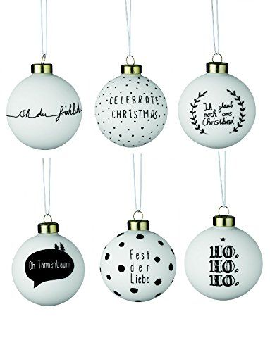 Christbaumkugeln Glas Schwarz.Weihnachtszauberkugeln Sortiment Weiß Schwarz 18 Stück