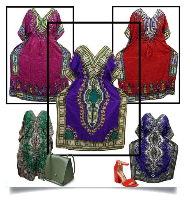 """Ladies Abaya Dress Kimono Kaftan"" by boho-chic-2 ❤ liked on Polyvore featuring Sam Edelman"