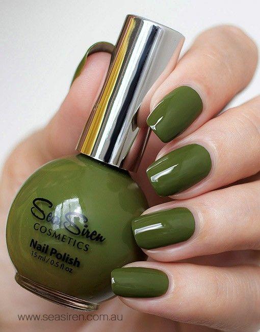 Green-Nail-Polish-\'Sea-Moss\' @seasirenpins www.seasiren.com.au ...