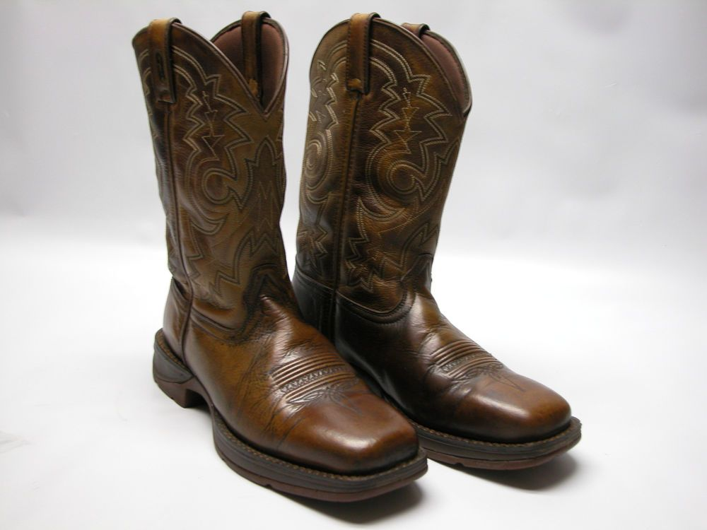 c47c88f94e8 Tony Lama Western Cowboy Roper Boots #403Y Mens Sz 5D Black Brown ...