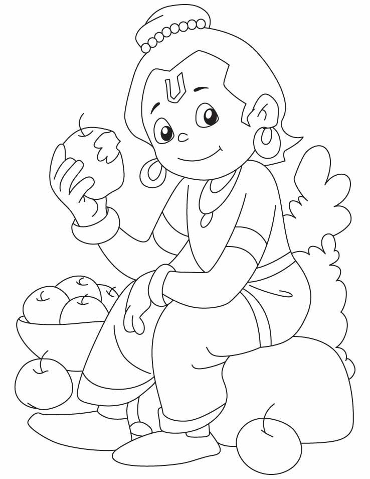 Lord Krishna Free Coloring Pages Sketch Coloring Page Apple Coloring Pages Free Coloring Pages Coloring Pages