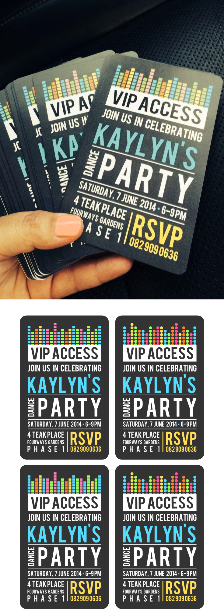 Invitación Vip Fiestas Electronicas Dance Party Birthday