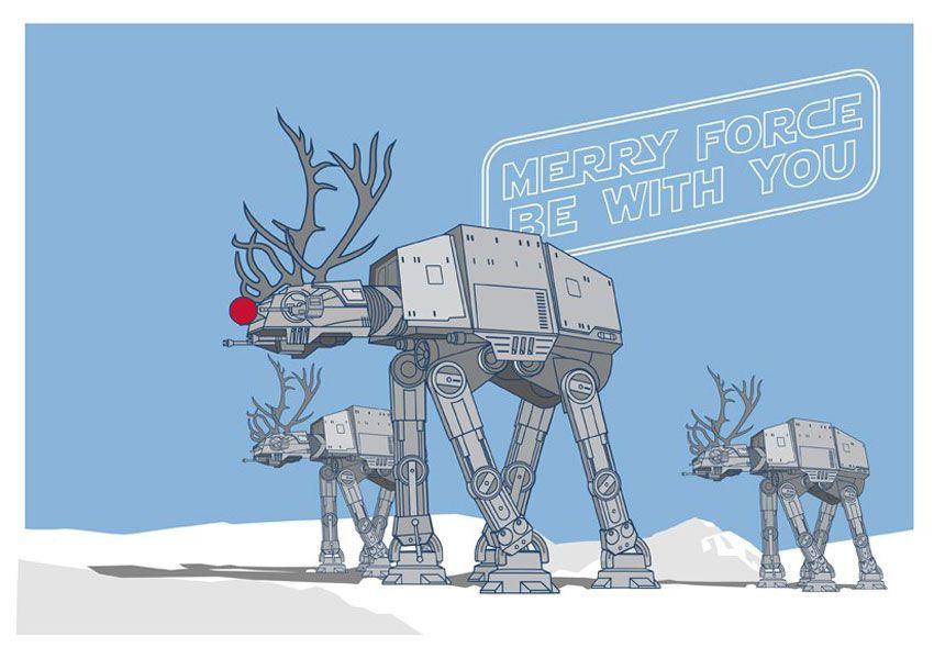 Noel J 4: Superbes Cartes de Voeux Star Wars (Gratuit)   Humour