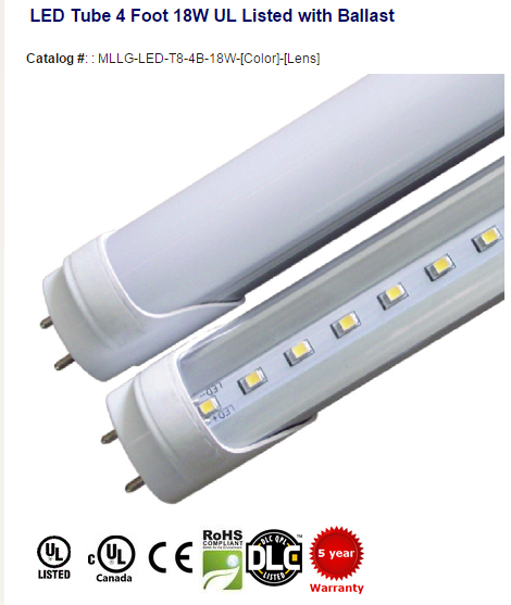 Shatter Proof LED Tube. Uses existing fluorescent