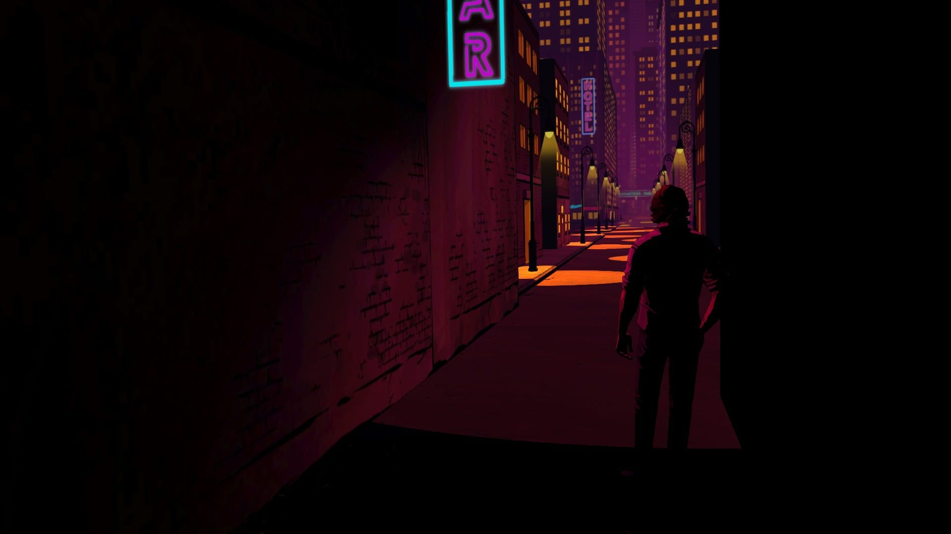 Black And Red Computer Tower The Wolf Among Us Video Games 1080p Wallpaper Hdwallpaper Desktop In 2020 The Wolf Among Us Hd Wallpaper Neon Noir