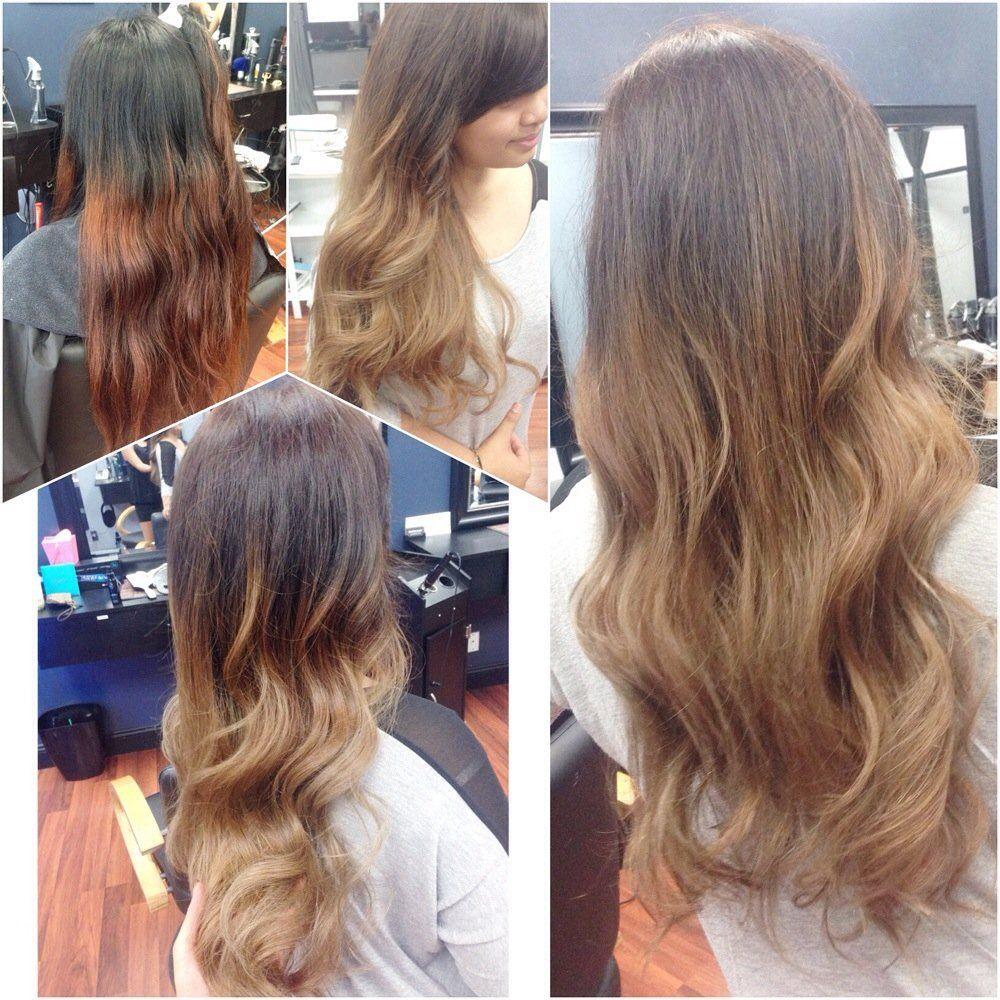 Inspire Hair - San Lorenzo, CA, United States. Ash Blonde Balayage Ombré up