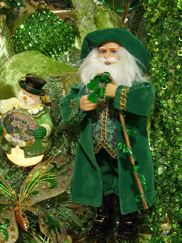 Irish Santa Ornament Irish christmas decorations, Irish