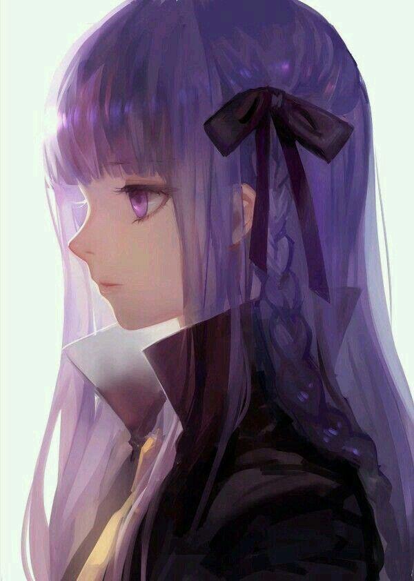 Cabello purpura anime
