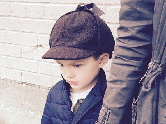 Mini Sherlock Holmes deep in thought! Deerstalker Hat by YoungFogeyHatShop  on Etsy  c43b1e068ac