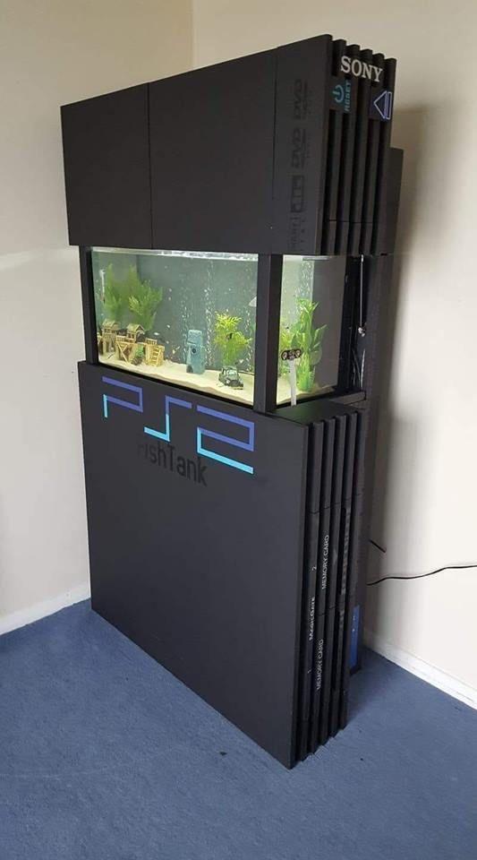 Fish Tank Game Room Design Gaming