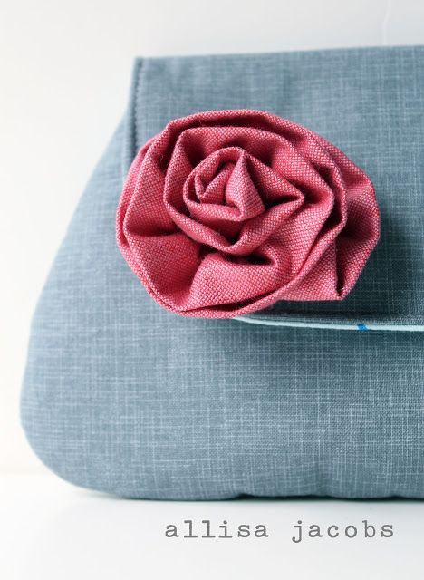 Quiltish by Allisa Jacobs: Fabric Flower Tutorial