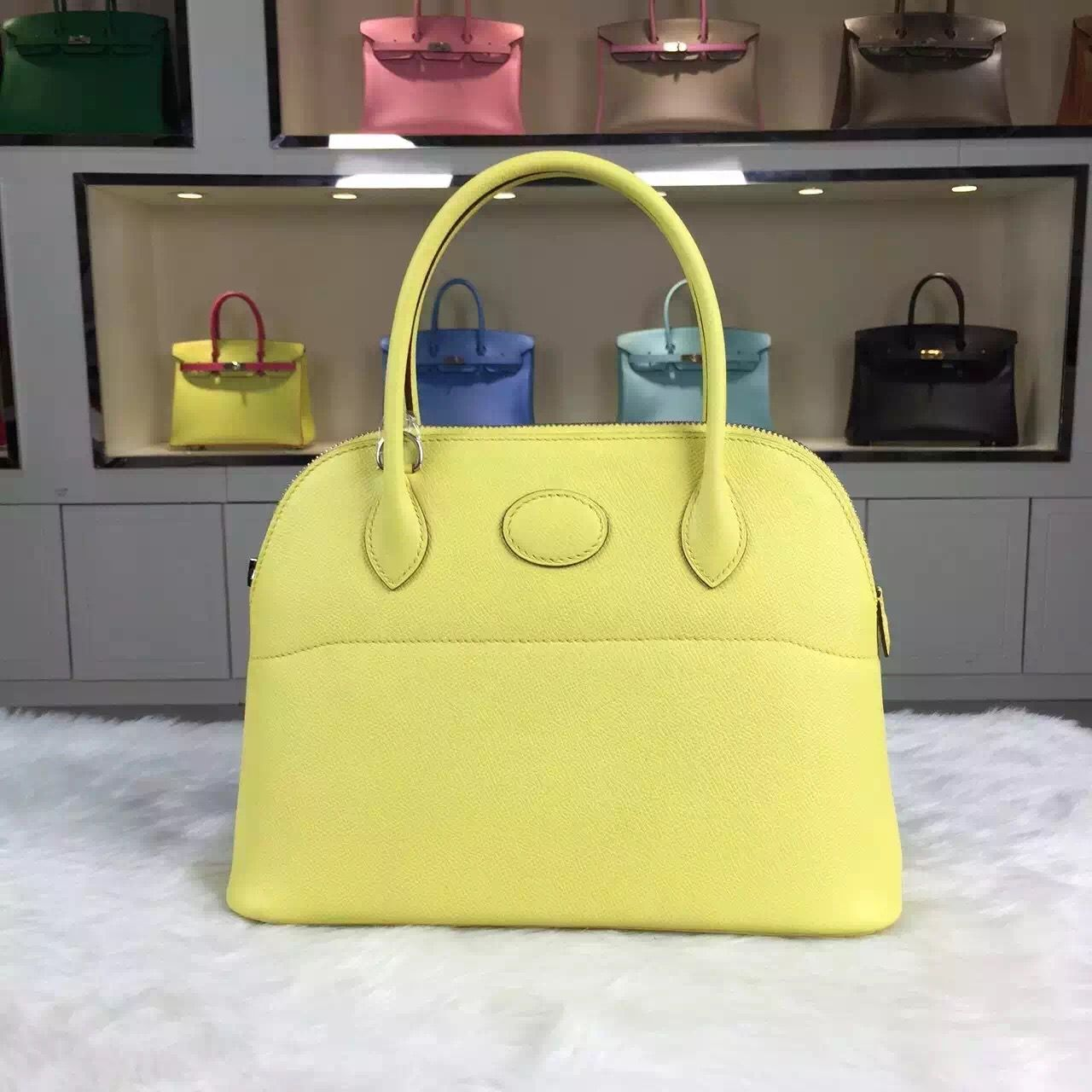 Brand: Hermes; Style: Bolide Bag; Material: epsom calfskin leather;Color