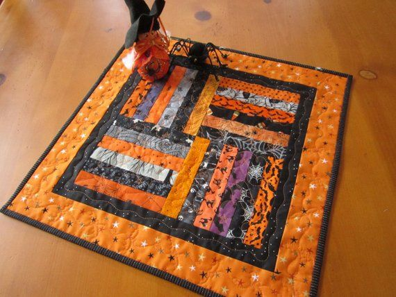 Awe Inspiring Halloween Table Topper Handmade Quilted Table Quilt Quilted Download Free Architecture Designs Xaembritishbridgeorg