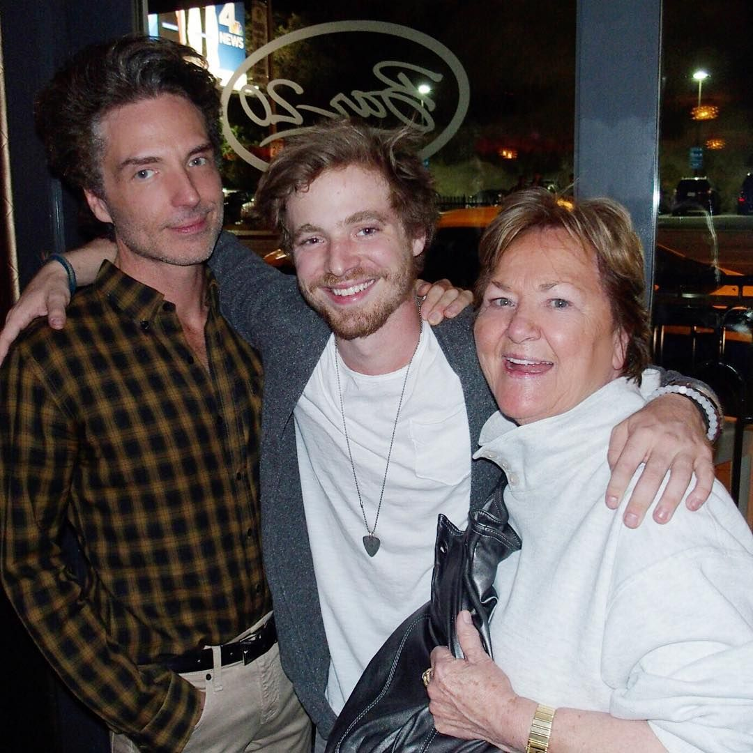 """""""A group of us went to cheer on @lucasmarxmusic Wednesday night at #bar20onsunset I love watching my kids perform."""""""