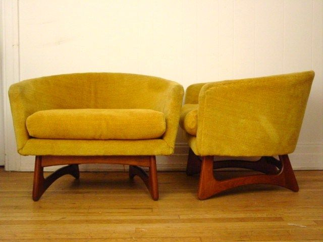 pair of 2 vintage 1960s adrian pearsall club chair mid century