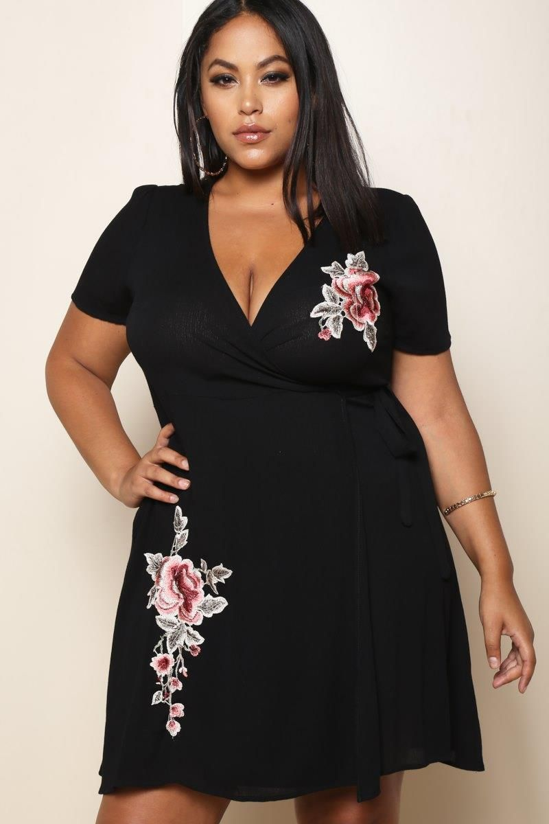 Slip into this plus size mini dress for an instantly cute look for