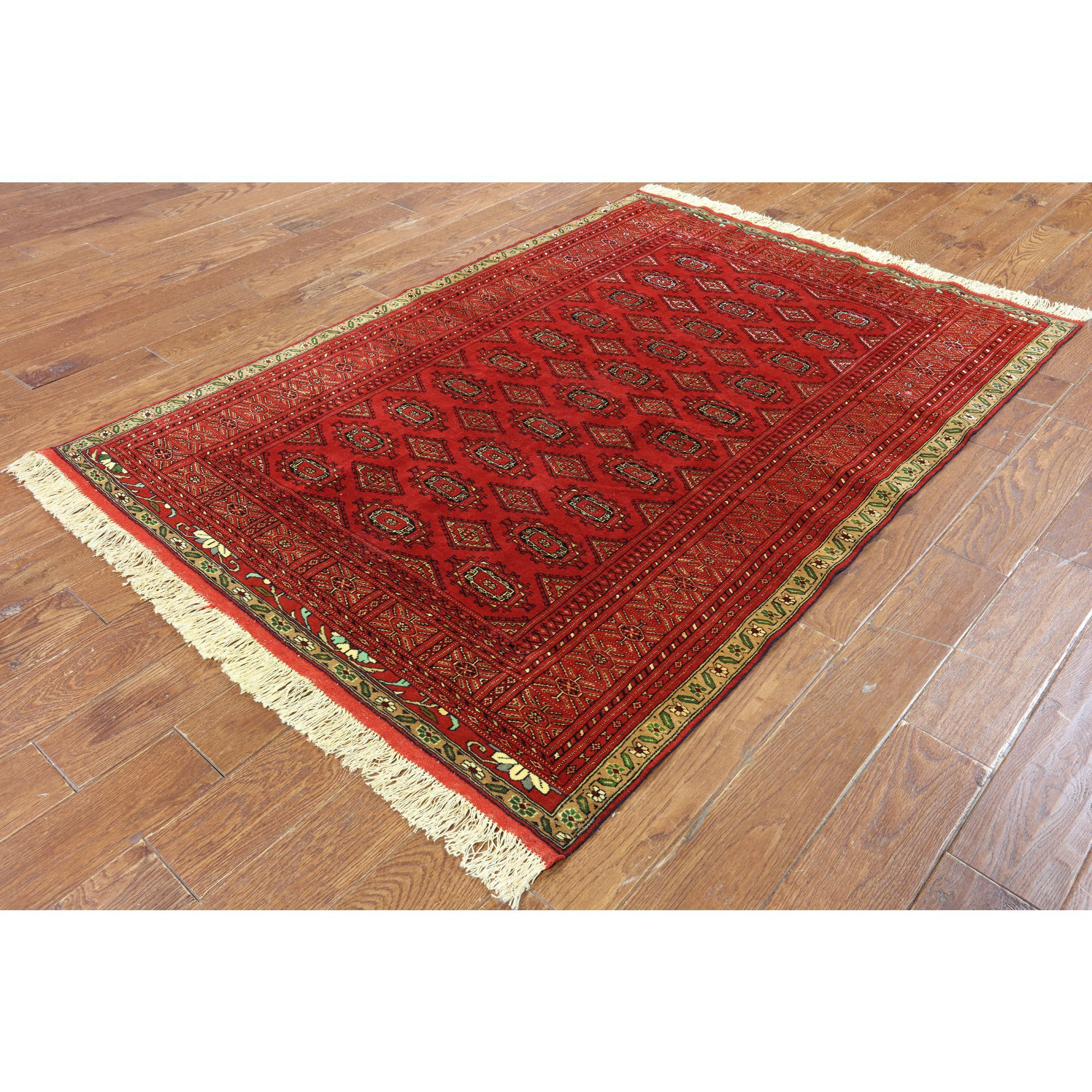 Manhattan Hand-Knotted Oriental Persian Bokhara Silk Rug