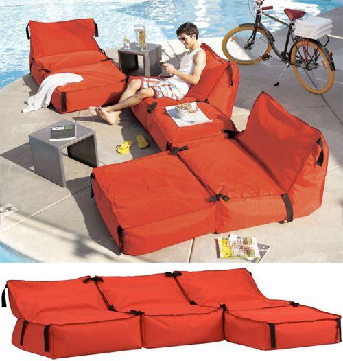 Tie 1 On Modular Bean Bag Furniture Bean Bag Furniture Outdoor Camping Glamping