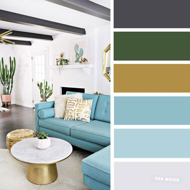 The Best Living Room Color Schemes Sky Blue Black Gold Color