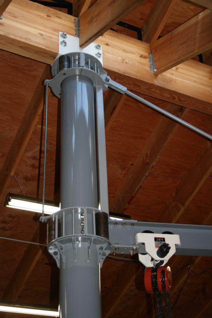 Custom Made Garage I Beam Rotating Jib Crane Garage