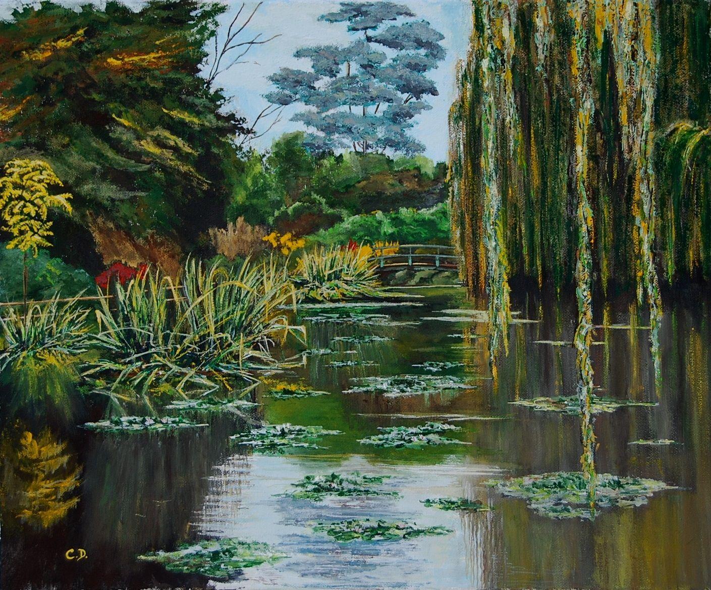 l'automne à Giverny (gouache)