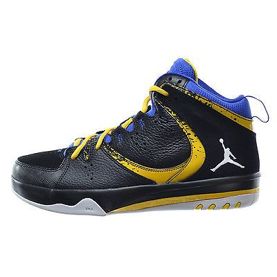 5bf8990265291c Nike Jordan Phase 23 II Mens 602671-089 Black Royal Maize Basketball Shoes  Sz 10