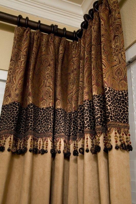Leopard Print Shower Curtain Foter Custom Drapery Custom