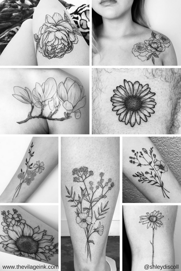 Flower Tattoo Inspiration For Those Of Us That Believe In Flower Power The Village Ink With Images Inspirational Tattoos Tattoo Shops Toronto Tattoos