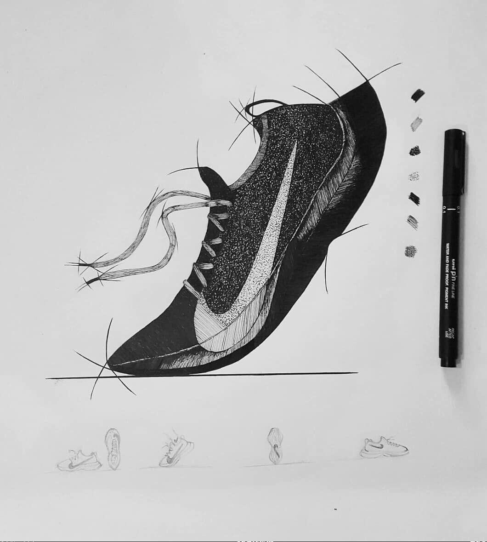 68c2746c52 Nike's Vapor Street Flyknit. . . #drawing #draw #art #artwork #sketch #ink  #artist #nike #nikeshoes #nikerunning #nikesnkr #vaporstreet #sneakers ...