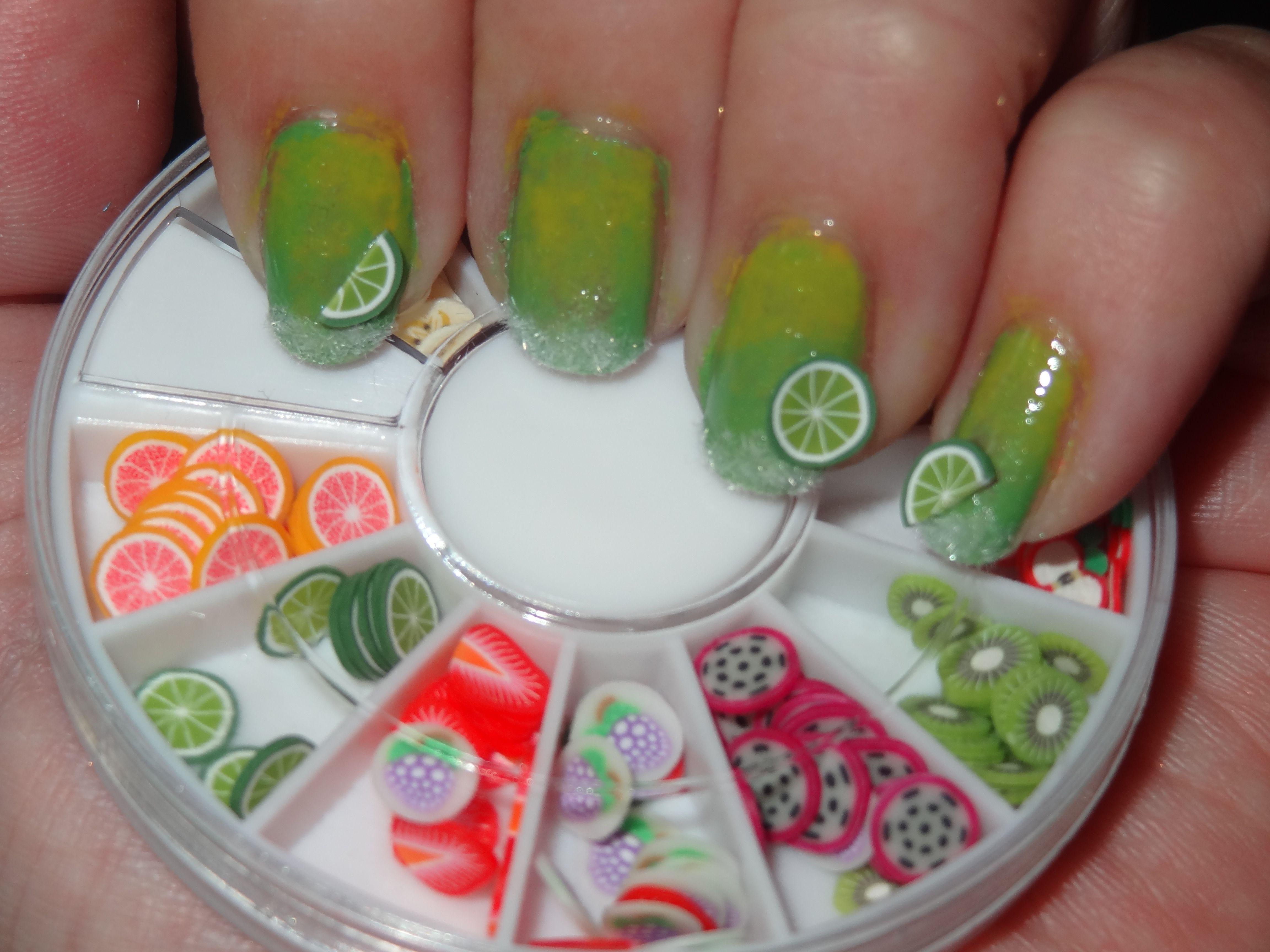 Margarita Nail Art With Mash Nails Fruit Fimo Cane Wheel Nails By