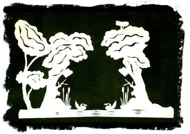From 'The Ugly Duckling' - paper-cut - Hans Christian Andersen