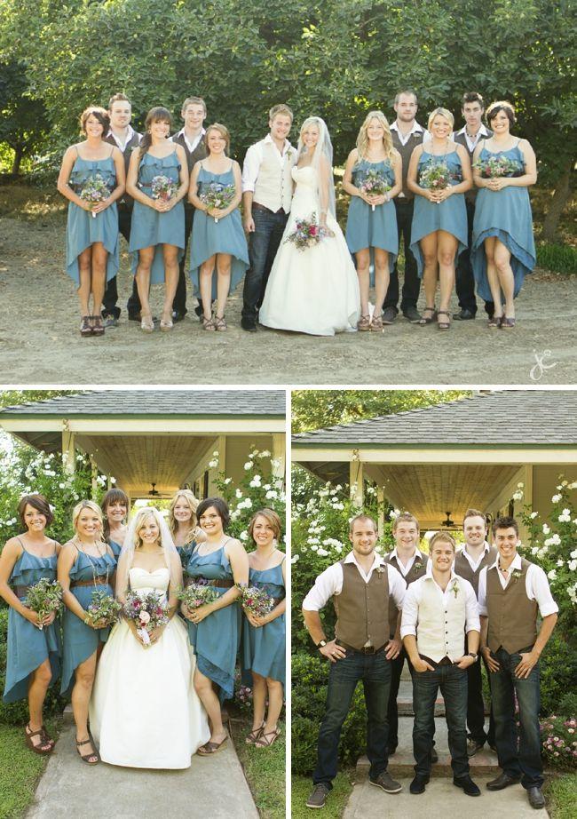 Bridesmaid Dresses With Light Blue Jean Jackets Yay Or Nay Denim Wedding Wedding Wedding Attire