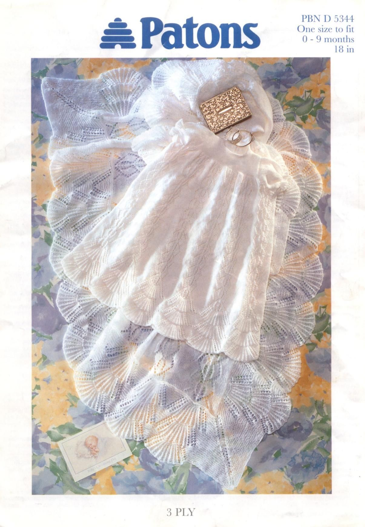 Patons 5344 Christening Robe and Shawl : Free Download ...