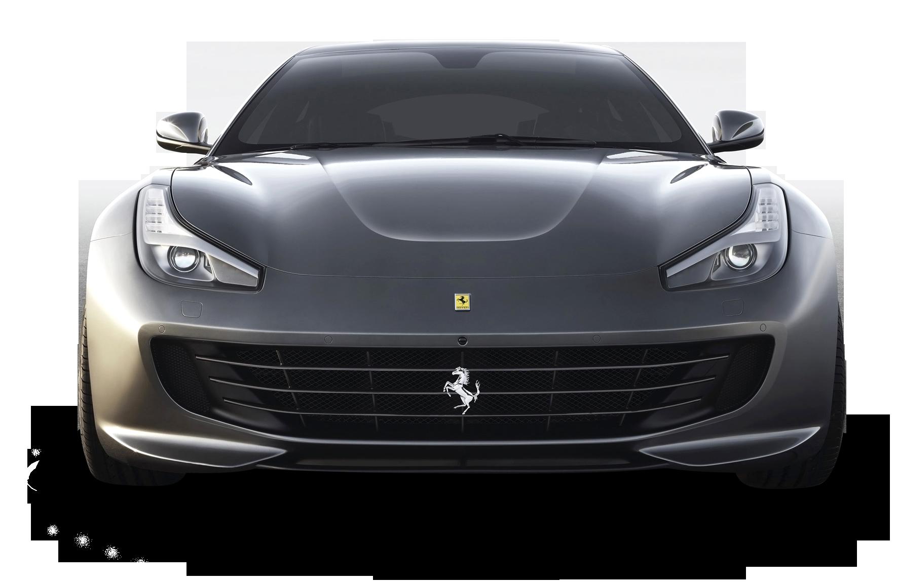 Ferrari Gtc4 Lusso Front Gray Car Png Image Grey Car Car Blue Car Accessories