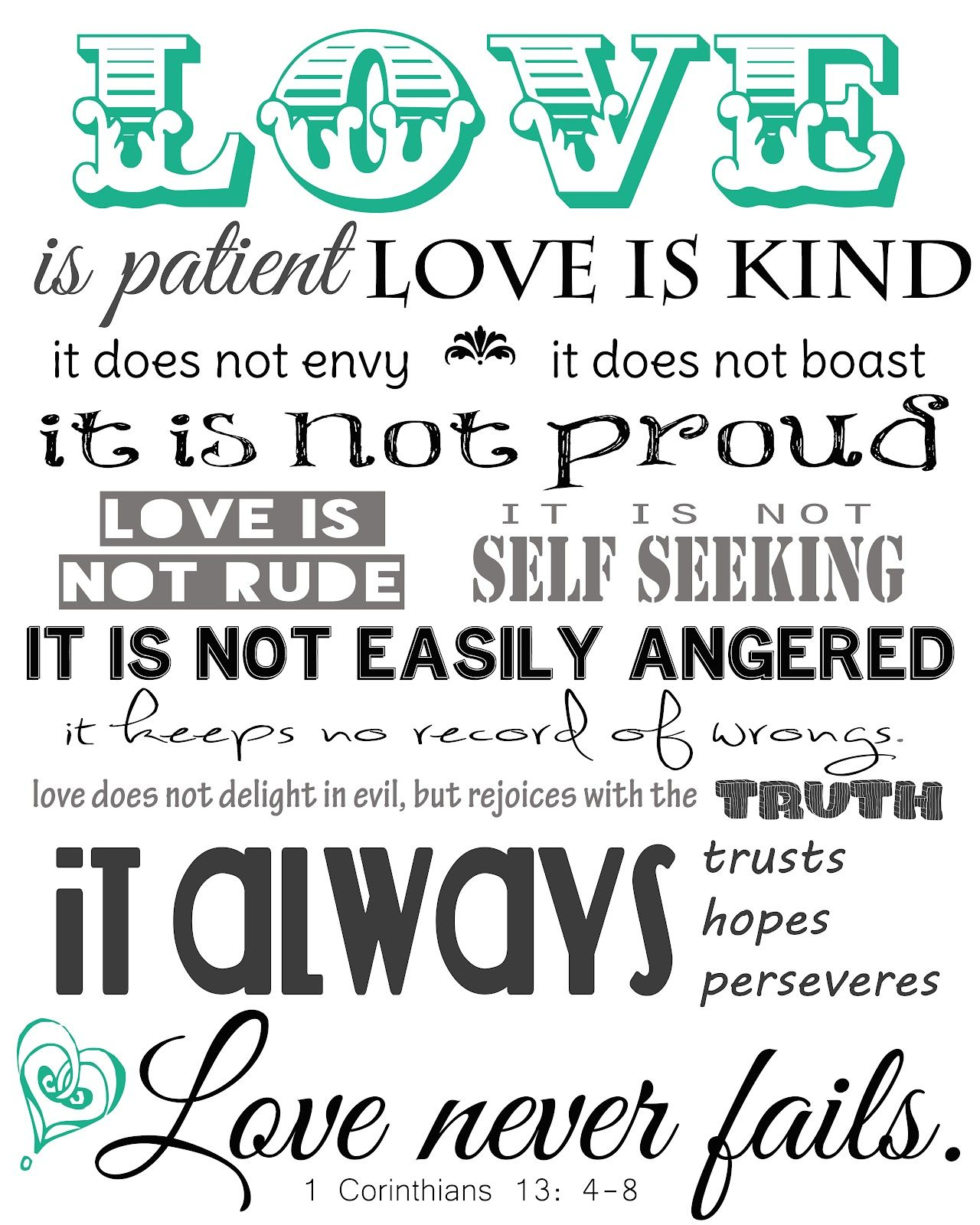 Genial 1 CORINTHIANS 13 LOVE IS PATIENT LOVE IS Image Galleries   ImageKB.com