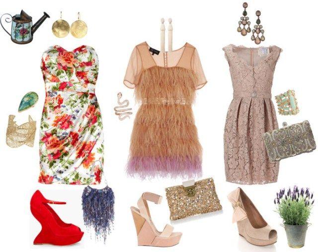 Garden Chic Attire Party Lace Dress Flower Fringe Platforms Wedding Guest