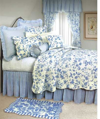 Toile French Country Comforter Sets