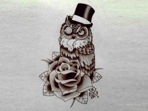 Owl Hat Tattoo Design Owl Tattoo Design Owl Tattoo Tattoo Designs