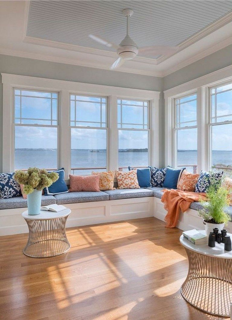 46 Popular Sunroom Design Ideas Beach House Interior Beach House Interior Design Sunroom Designs