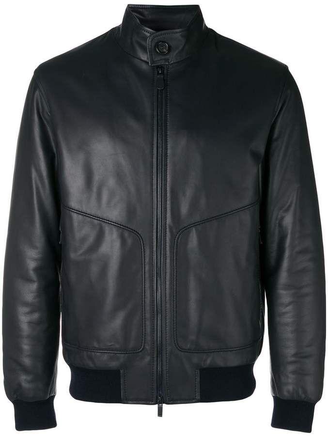 f40f958a Ermenegildo Zegna zipped biker bomber jacket | Mens fashion in 2019 ...