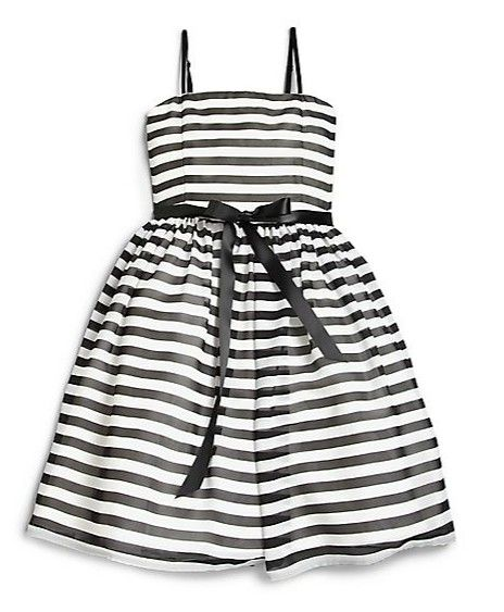 b715cc82b6 She'll be ready to kick up her heels in this Un Deux Trois Girl's Striped  Party Dress at Saks,com. Love the bold stripes, satin ribbon belt and a  full tulle ...