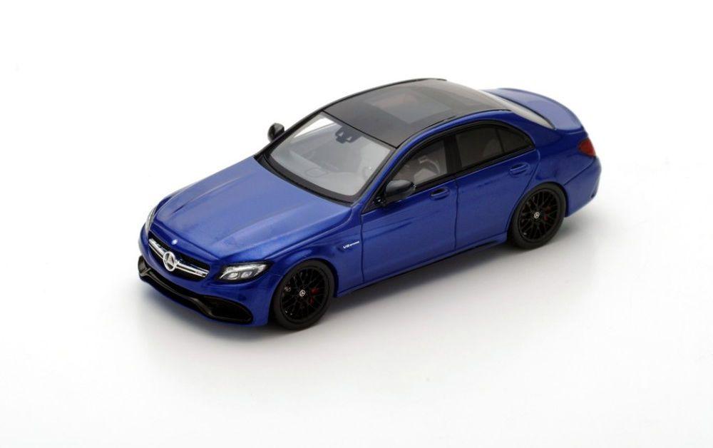 Mercedes Amg C 63s 2016 Blue 1:43 Model S4913 SPARK MODEL