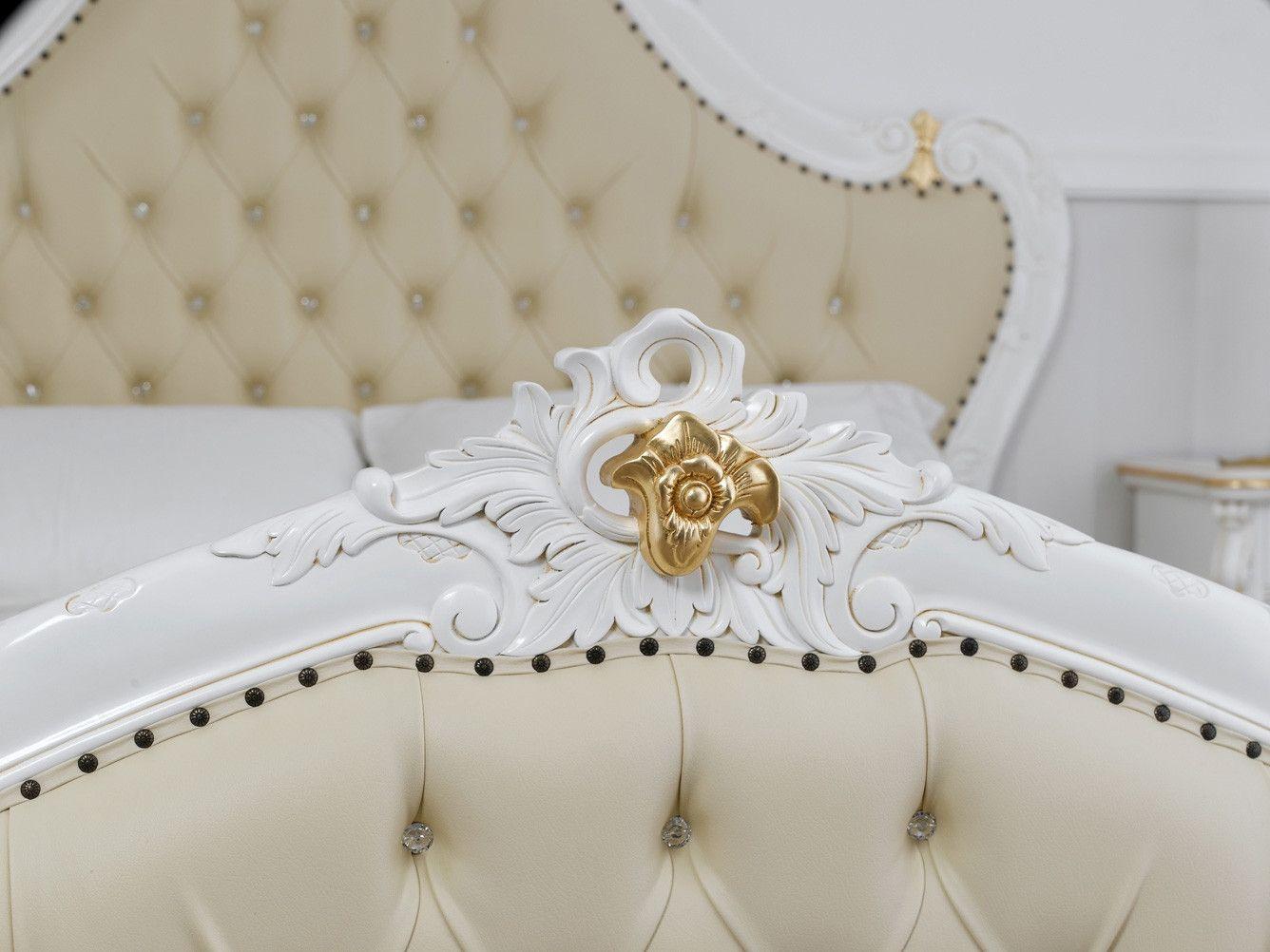 Letto matrimoniale Bryanna stile Barocco Decape avorio e ...