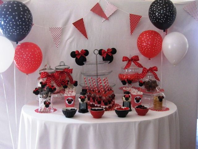 minnie minnie pinterest anniversaires anniversaire. Black Bedroom Furniture Sets. Home Design Ideas