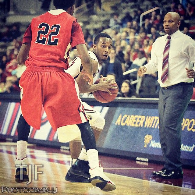 11/22/14 | Indianapolis, IN: IUPUI's Boutte (#25) steals the ball from Tyler (#22) in OT and hits the game-winner at the buzzer defeating Ball State, 71-69.