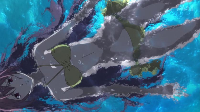Kusaribe Hakaze, swimming before the final fight. // screen-capture