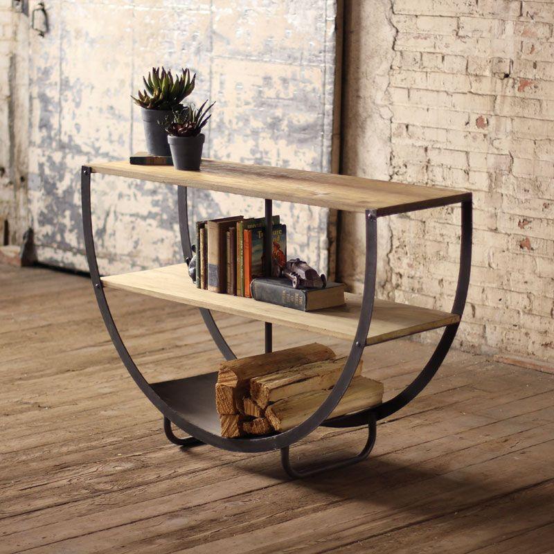 Half moon console oficina mexia muebles for Muebles industriales baratos