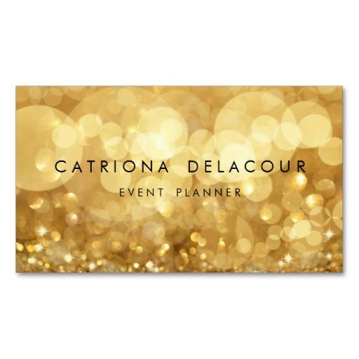Elegant Gold Glitter Bokeh Business Card. This great business card design is available for customization. All text style, colors, sizes can be modified to fit your needs. Just click the image to learn more!