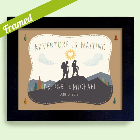Rustic Wedding Art Engagement Gifts For Couple Loves To