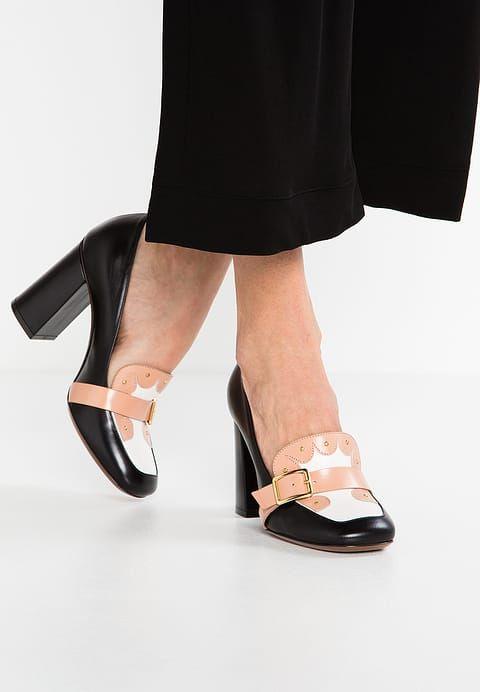 L''Autre Chose White Leather Ankle Tie Flat Sandal
